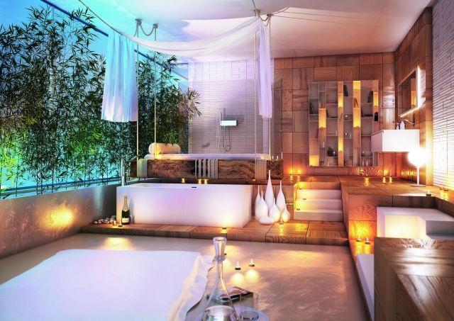 badmöbel kollektion badezimmer wellness ambiente kerzen | ideen ... - Das Moderne Badezimmer Wellness Design