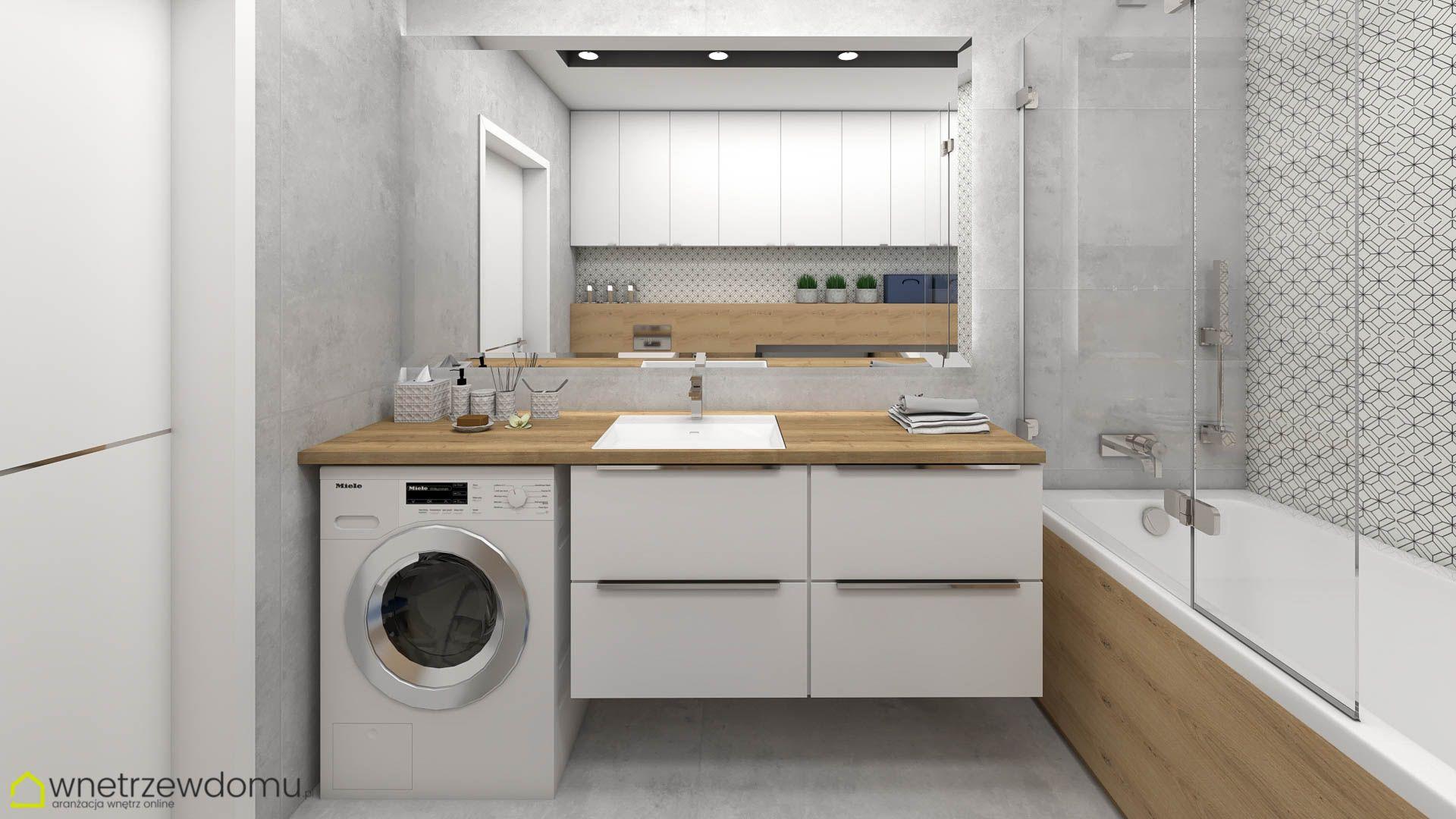 Lazienka Biel I Drewno Bathroom Design Small Bathroom Design Home Appliances