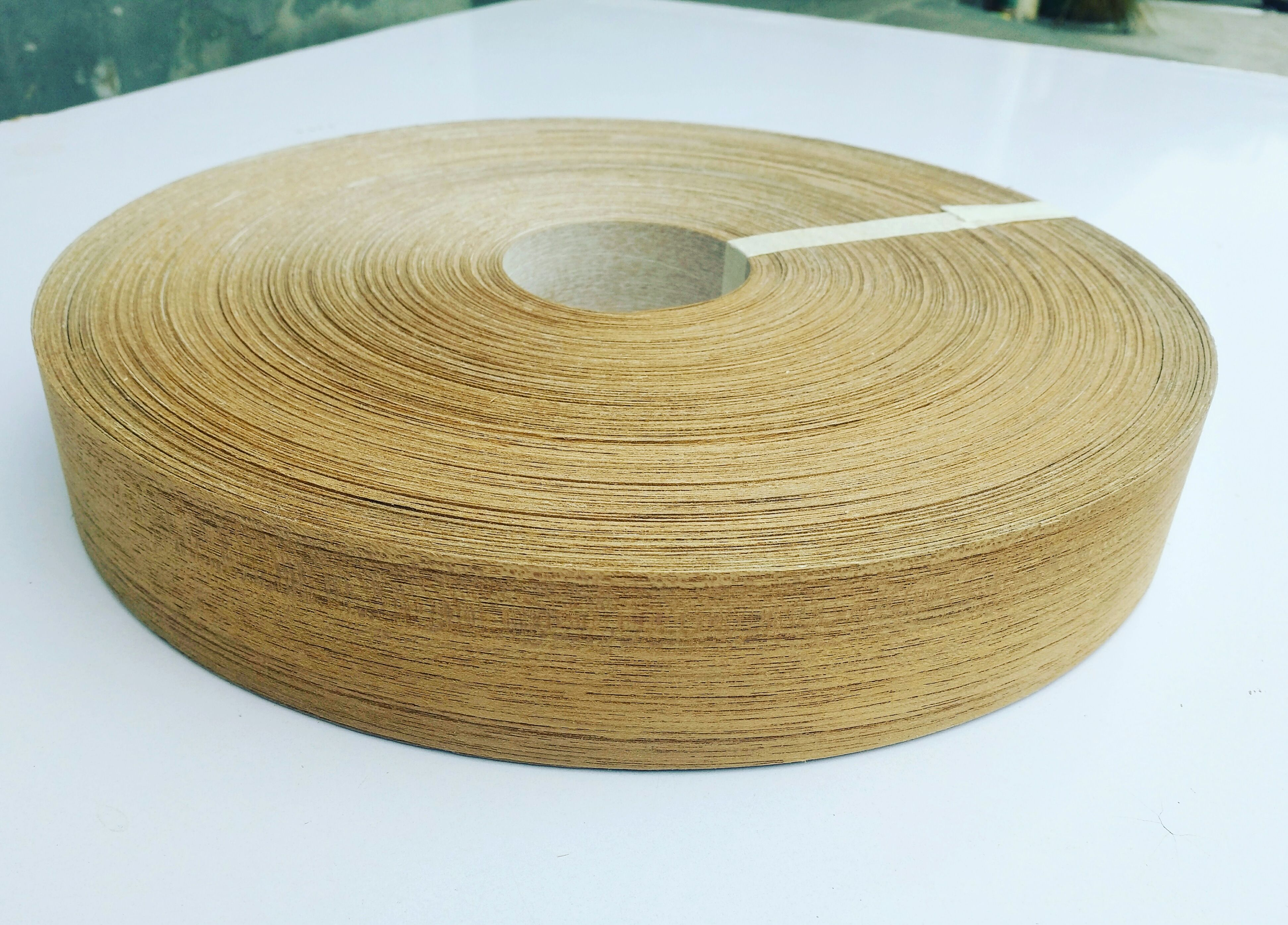 Burma Teak Wood Veneer Edgebanding Invisiable Finger