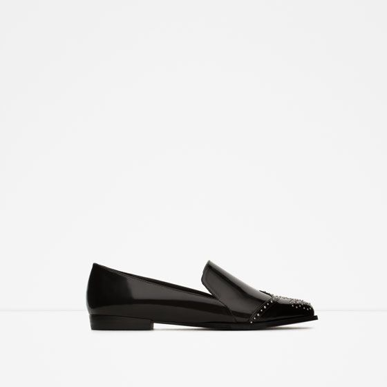 ZARA - WOMAN - FLAT SHOES WITH STUDS