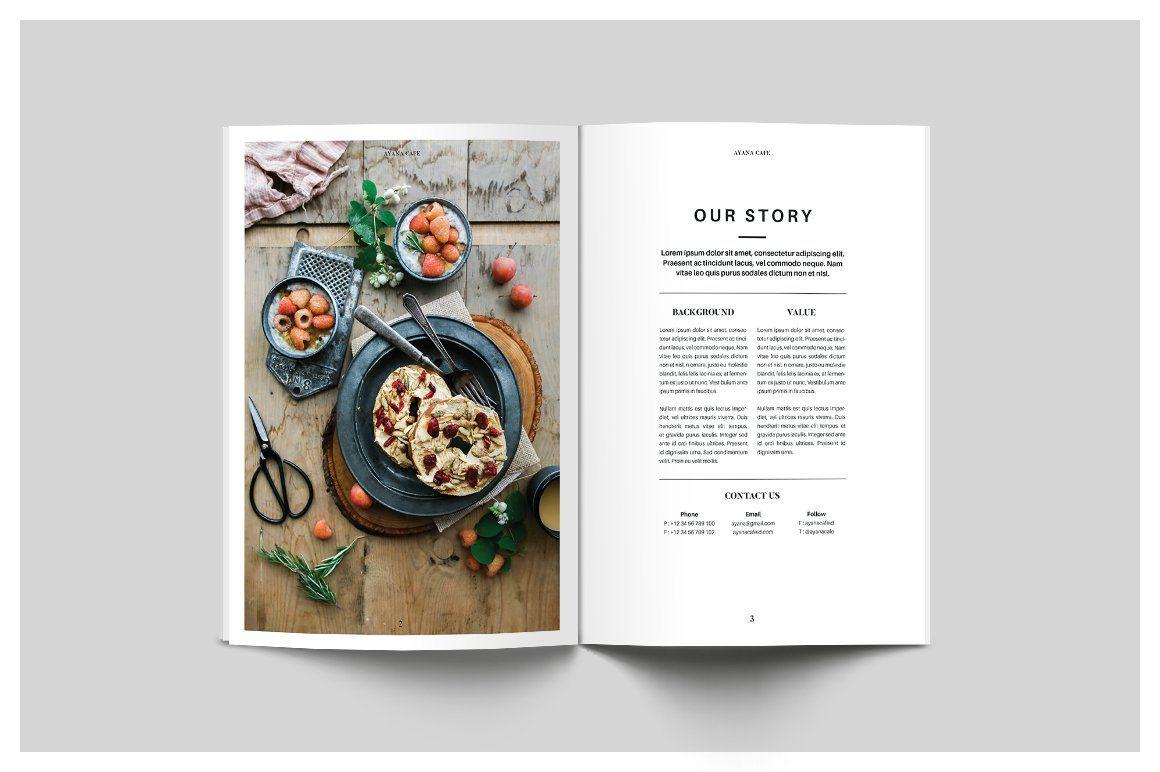 Food Menu Cookbook Design Food Menu Cookbook Template