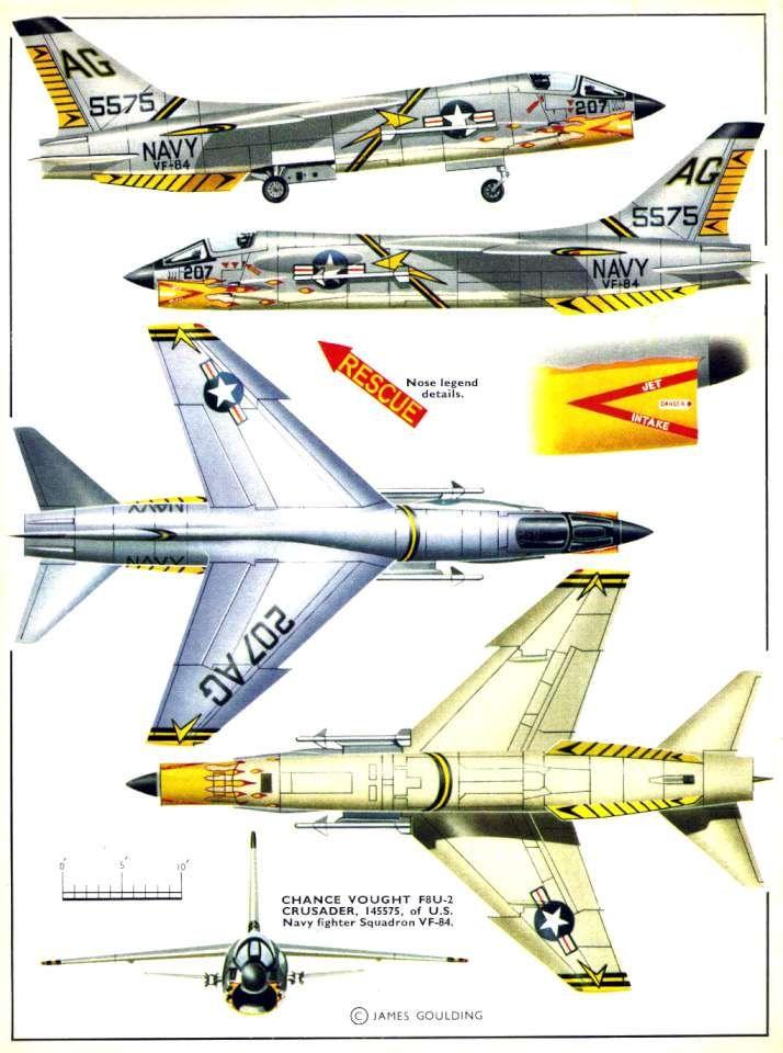 Vought F-8 Crusader : vought, crusader, Chance, Vought, Crusader, 02-960, Military, Aircraft,, Aircraft