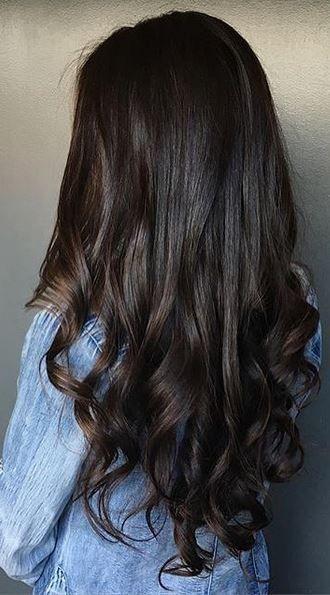Dark Chocolate Brunette Hair Color Stunning Beauty Pinterest