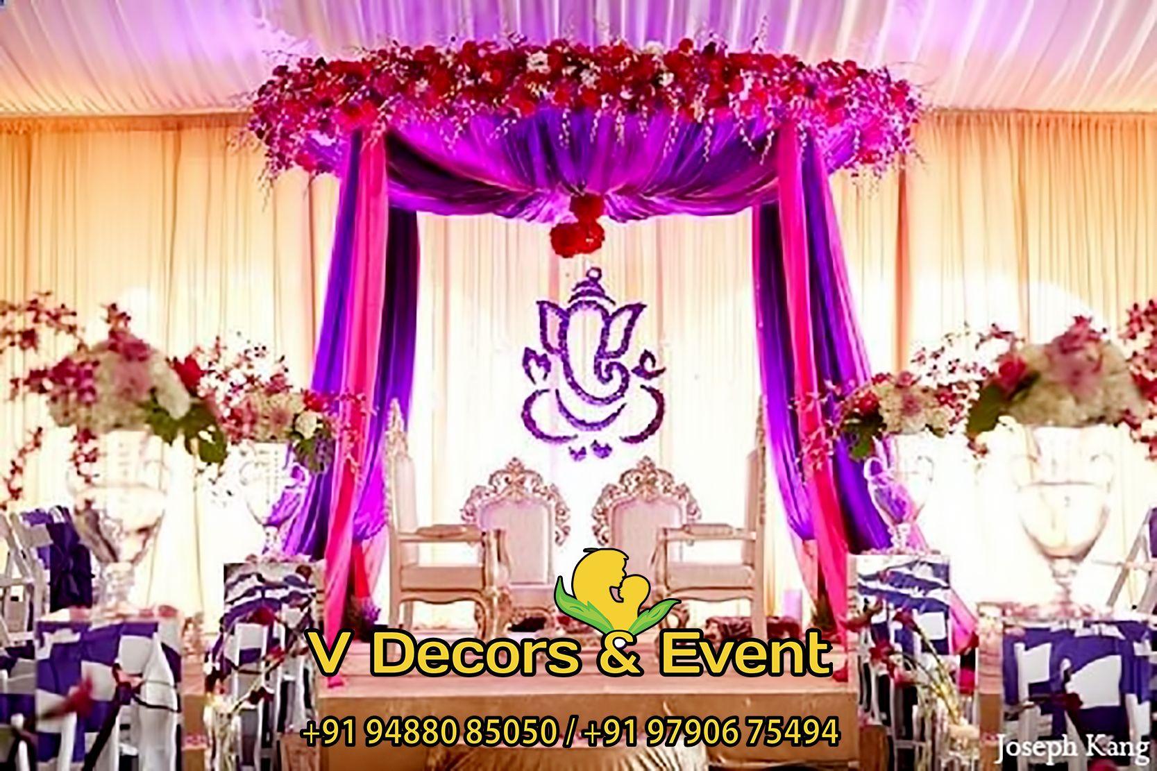 Indian Wedding Ceremony Decor Mandap Purple Pink In Chicago Illinois By Joseph Kang