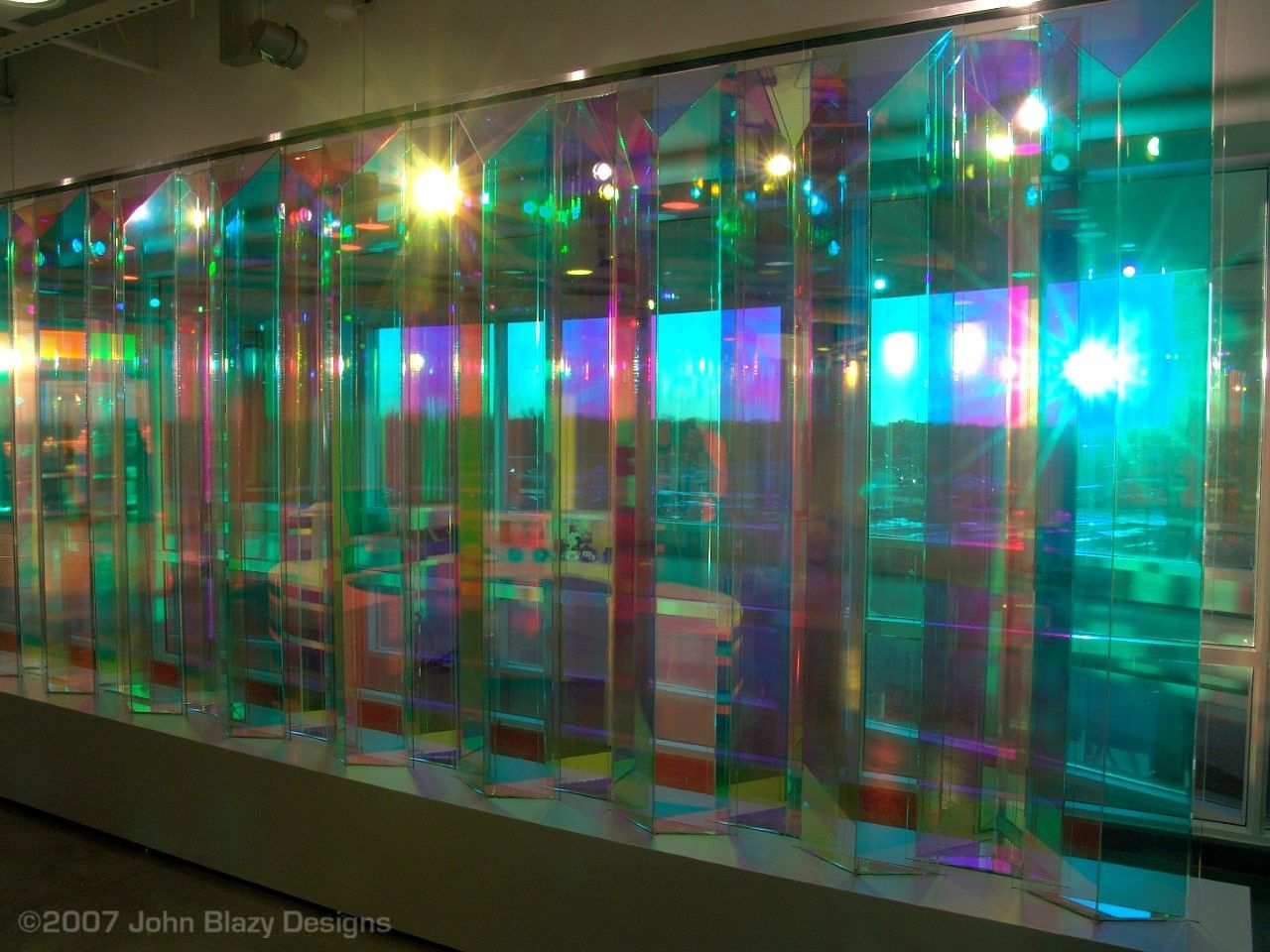 Dichrolam Color Changing Architectural Glass Picture In