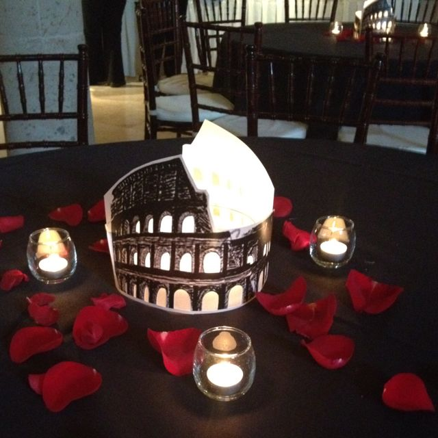 Roman Themed Centerpiece