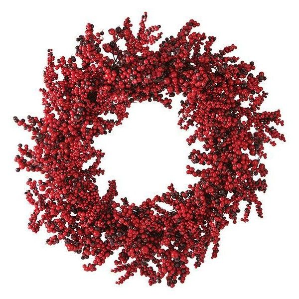 Red Berry Wreath ($44) ❤ liked on Polyvore featuring home, home decor, holiday decorations, vine wreath, autumn door wreaths, holiday door decorations, harvest wreath and thanksgiving wreaths