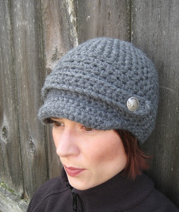 PATTERN Crochet Newsboy Cap - Buffalo Gal Woman\'s Crochet Hat PDF ...