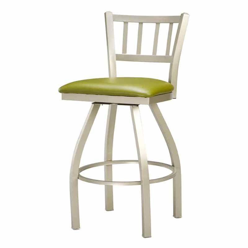 Buy Regal Seating Moon Wood Back Steel Frame Swivel Stool W Wood Seat At  ShopLadder   Great Deals On Bar Stools With A Superb Selection To Choose  From!