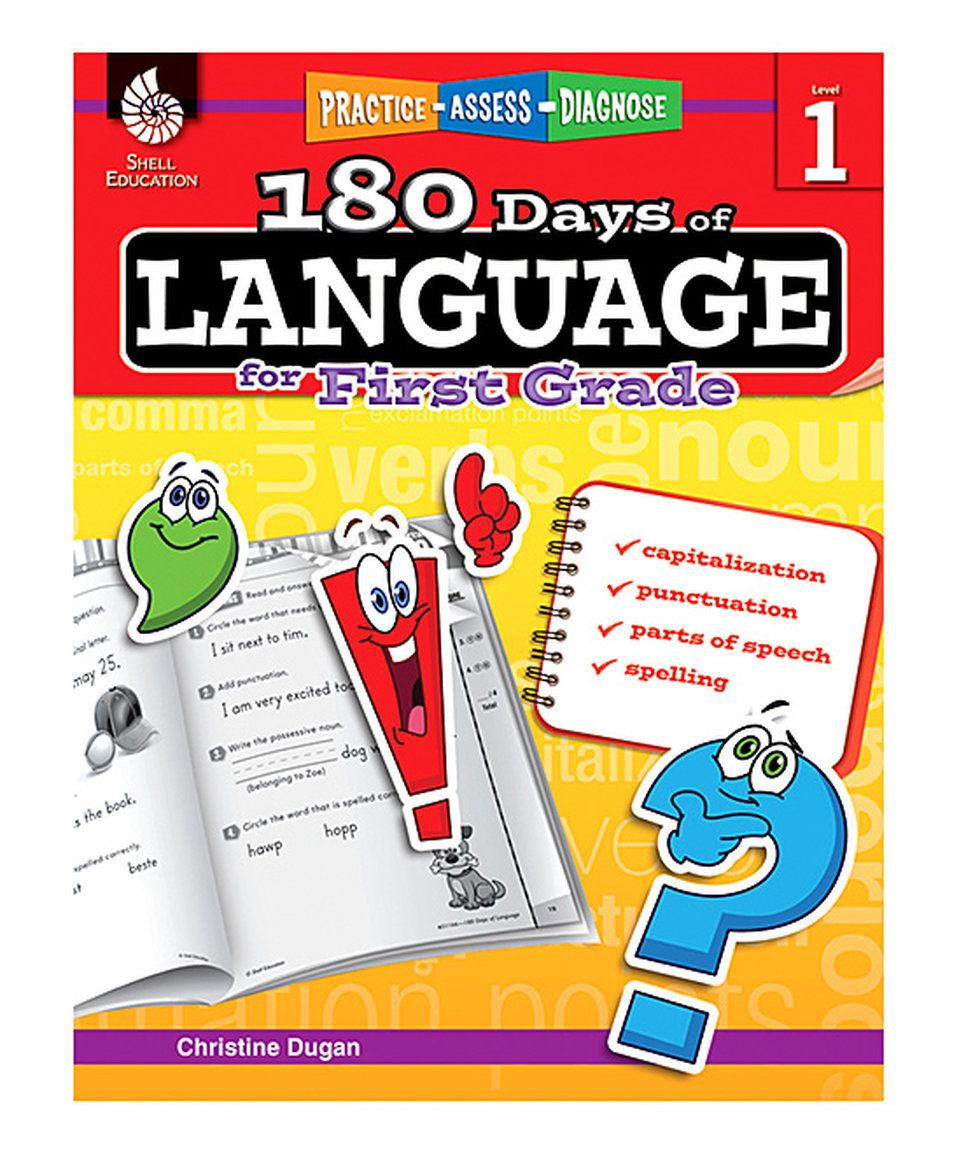 Take a look at this Grade 1 180 Days of Language Workbook today!