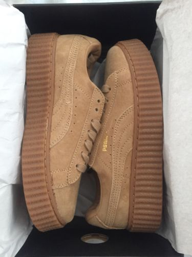 brand new puma fenty by rihanna tan creepers sz 8 5 womens. Black Bedroom Furniture Sets. Home Design Ideas