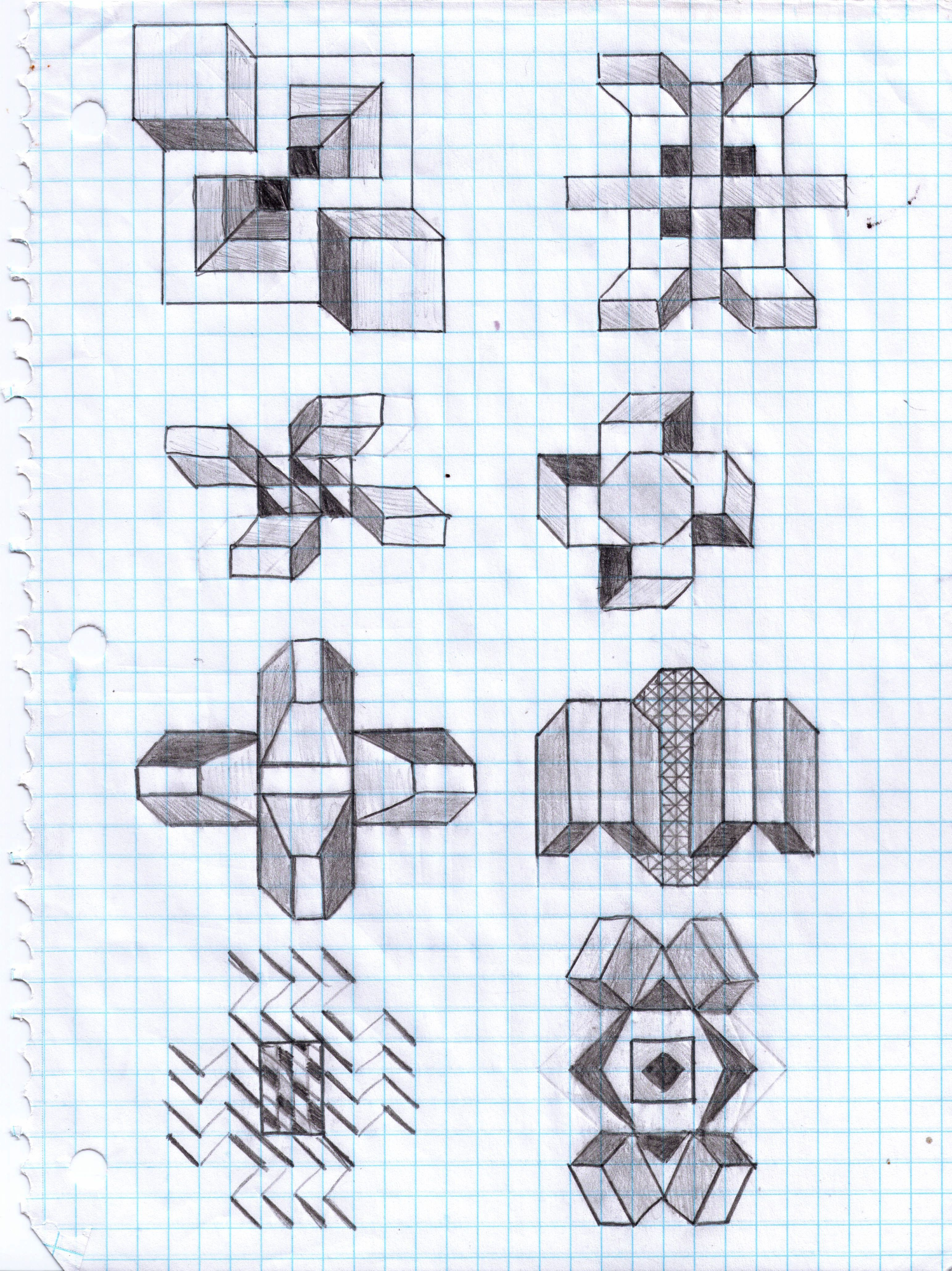 cool things to draw on graph paper