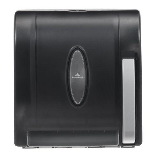 Hygienic Push-Paddle Roll Towel Dispenser, Translucent Smoke