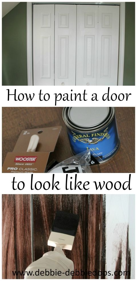 How To Paint A Plain White Door To Look Like Wood White
