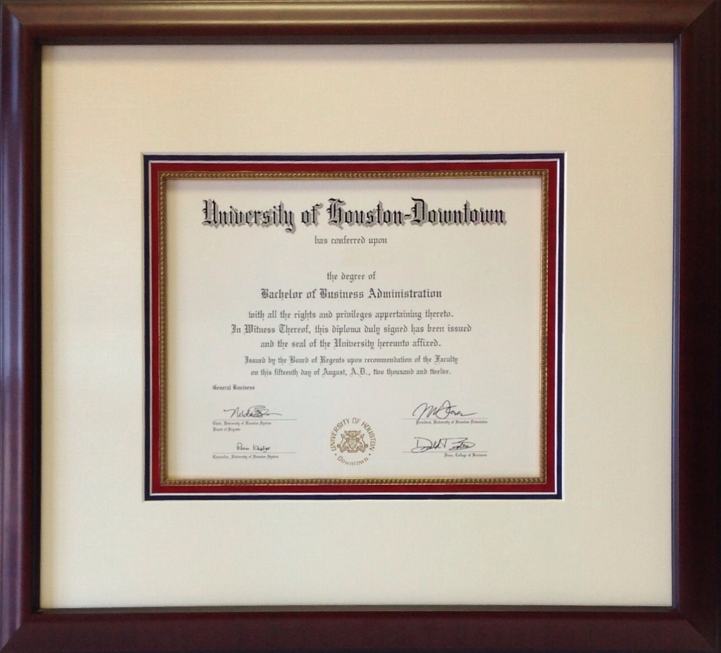 University of houston downtown framing of degrees diplomas and explore university of houston downtown and more aiddatafo Image collections