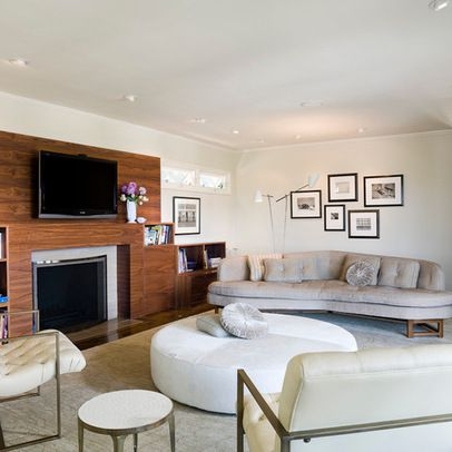 Modern Gas Fire Places With Tv And Bookshelves