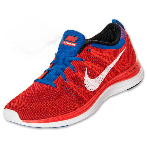 01a00bc8c089 Men Nike Flyknit Lunar 1 Running shoes Team Orange White Red Game Royal  554887 816