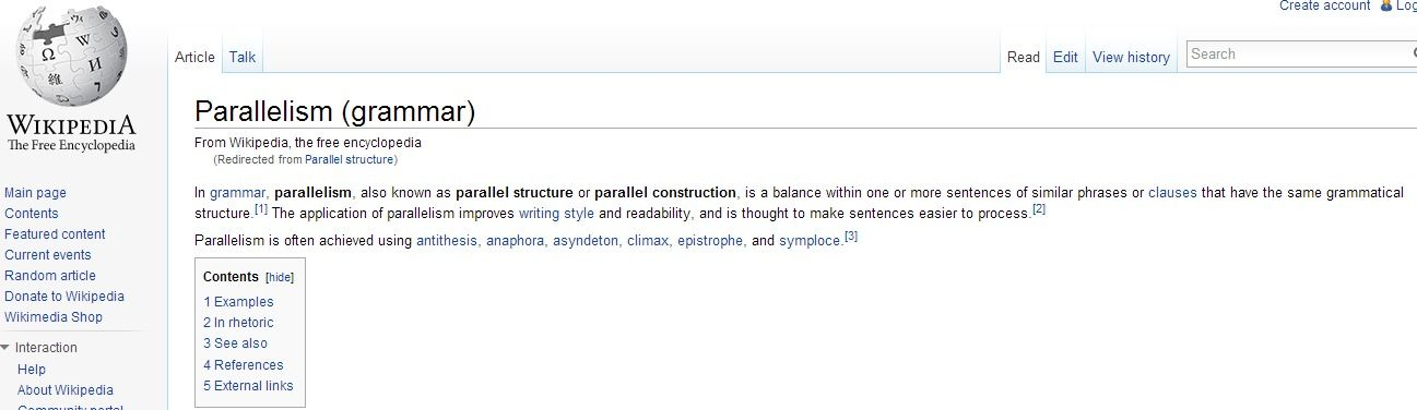 Good This Is A Excellent Definition Of Parallel Structure From  Http://en.wikipedia