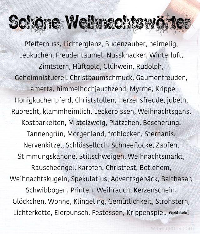 Sch ne weihnachtsw rter xmas winter and december daily - Weihnachtskarten text lustig ...