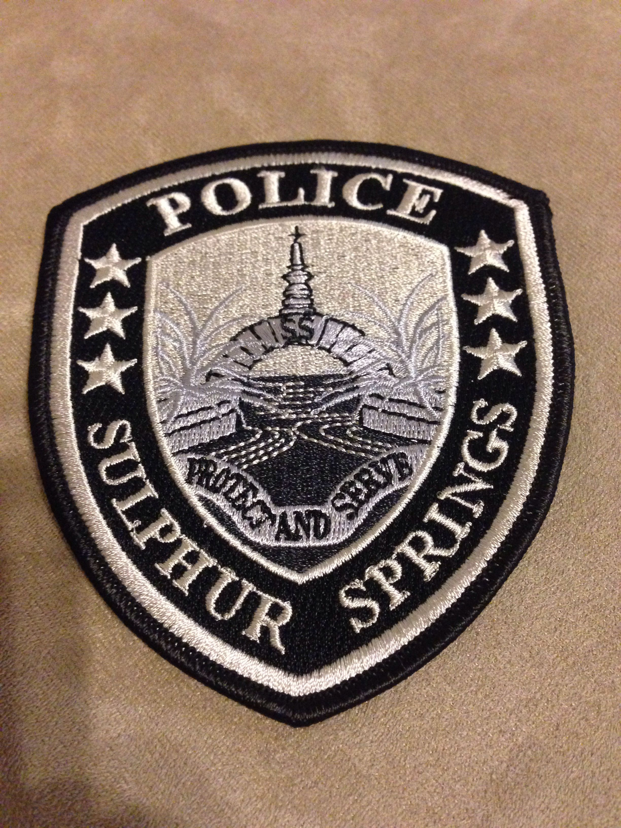 Sulfur Springs Police Department Police patches, Police