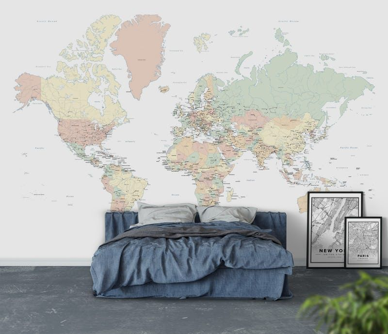 World map countries xl wallpaper from happywall rooms world map countries xl wallpaper from happywall gumiabroncs Image collections
