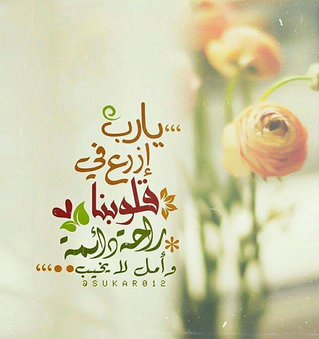 دعوة دائمة يارب إزرع في قلوبنا راحة دائمة وأمل لا يخيب Instagram Posts Arab Fashion Instagram