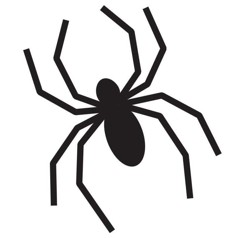 simple spider stencil for all your halloween projects