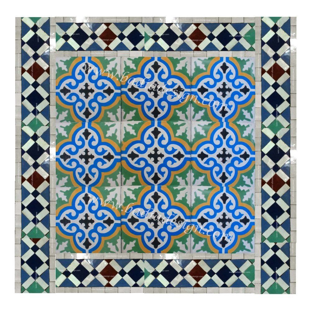 Moroccan Floor Tile Example. This Is A Sample Layout Of Moroccan Cement Floor  Tiles With
