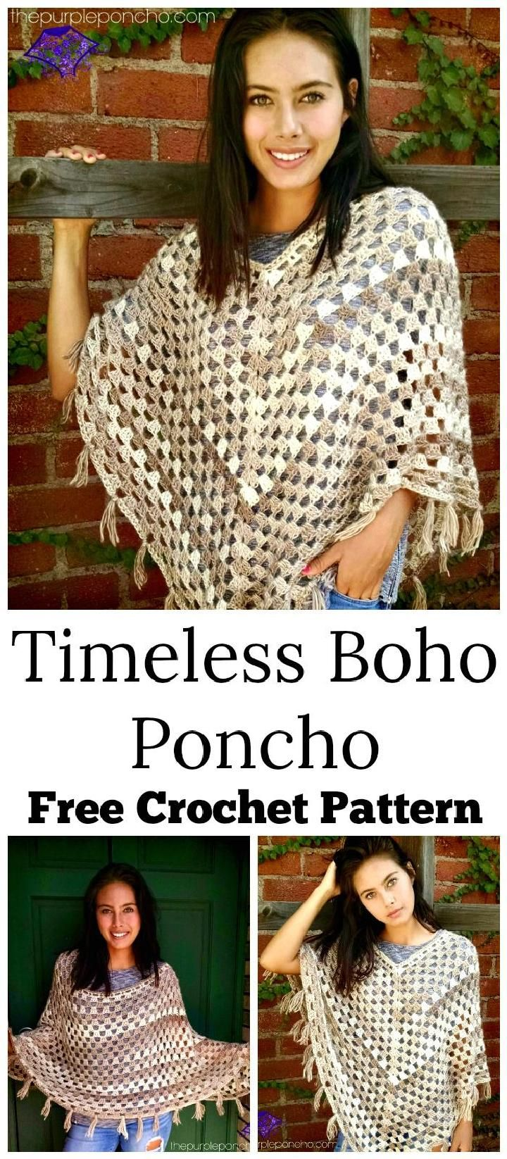 20 free crochet summer poncho patterns for womens crochet crochet timeless boho poncho 20 free crochet summer poncho patterns for womens diy bankloansurffo Images