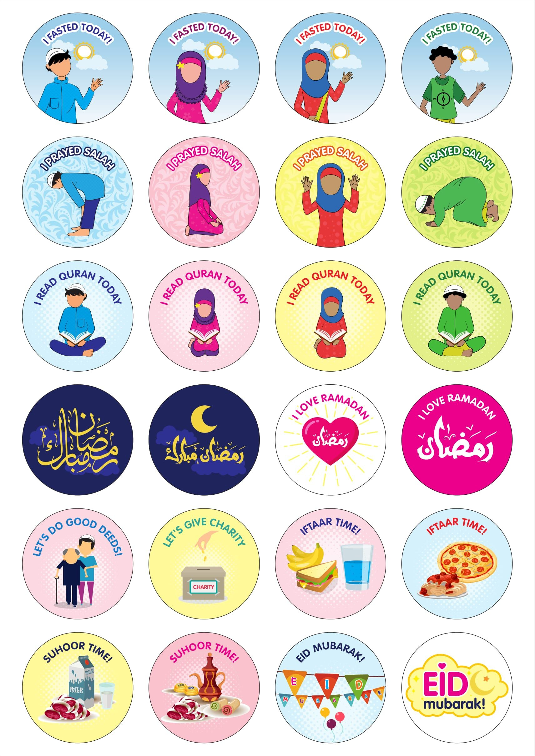 Image Result For Ramadan Stickers
