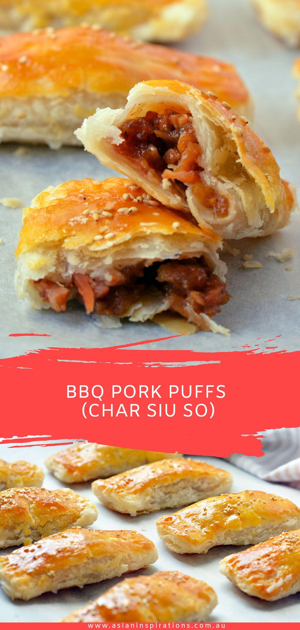 Bbq pork puffs char siu so asian inspirations recipe