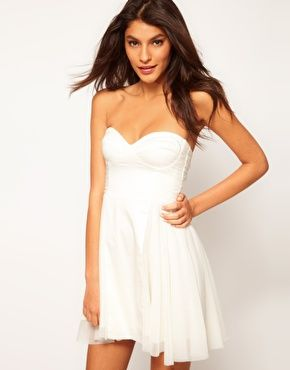 ef41344c159e Strapless Skater Dress with Sweetheart neckline | ❀My style ...