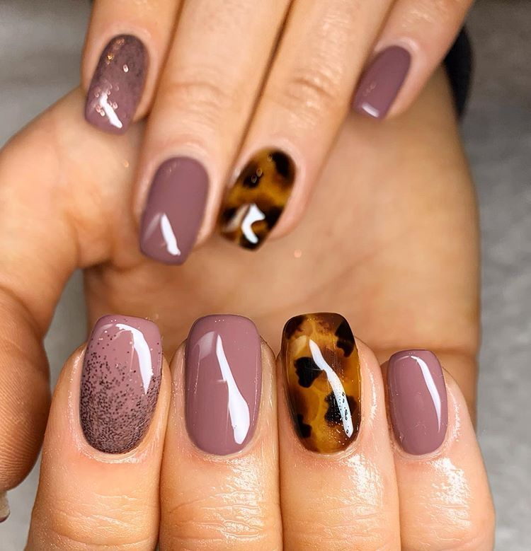 30 Amazing Gel Nails Designs For Winter To Copy In 2020 Winter Nail Designs Gel Nails Fall Gel Nails