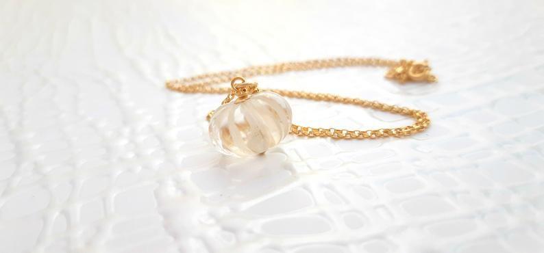 Carved Quartz Necklace | Modern pendant necklace | Gold pendant necklace | Carved crystal | Gift for #quartznecklace