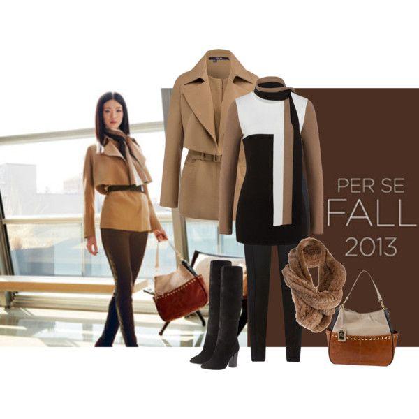 TOFFEE jacket, BLAKE sweater, CAROB pant, CARAMEL scarf, LIAISON hanadbag   www.carlislecollection.com