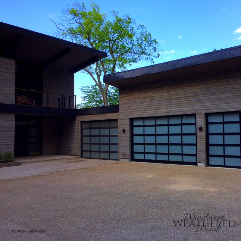 Modern Exterior Wood Siding: Modern Home With Beautiful Handcrafted Wood Siding. Rustic