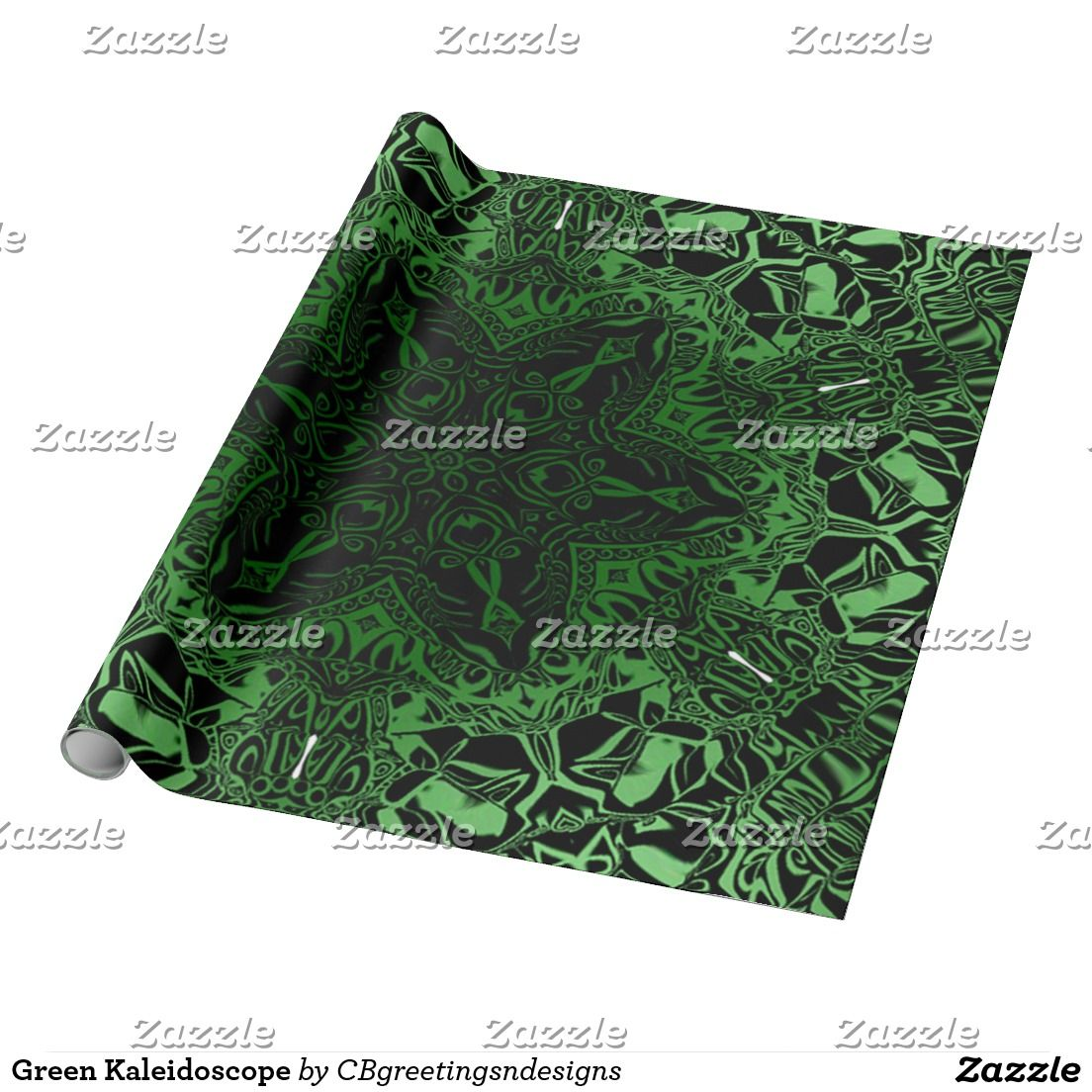 Green Kaleidoscope Wrapping Paper
