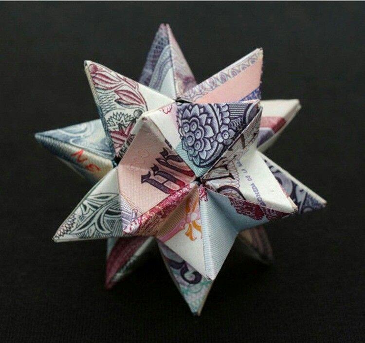 Paper money origami