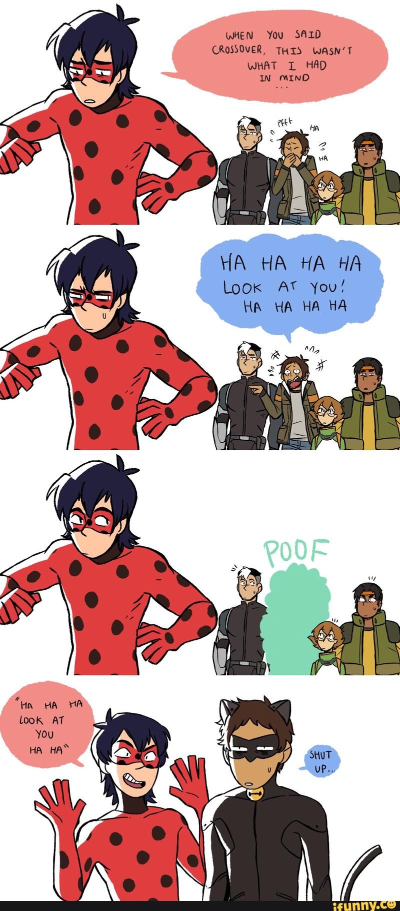 ef3874ab1b7 I LOVE THIS, Keith and lance look so cute as chat and ladybug   I ...