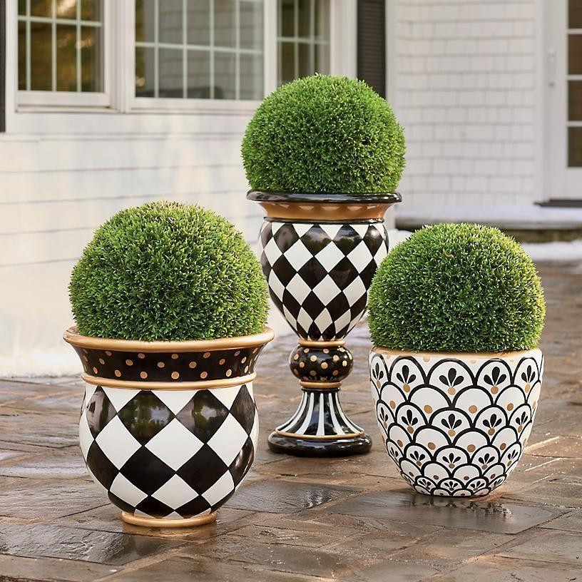 Zara & Cecilia Planters Grandin Road Flower pot design