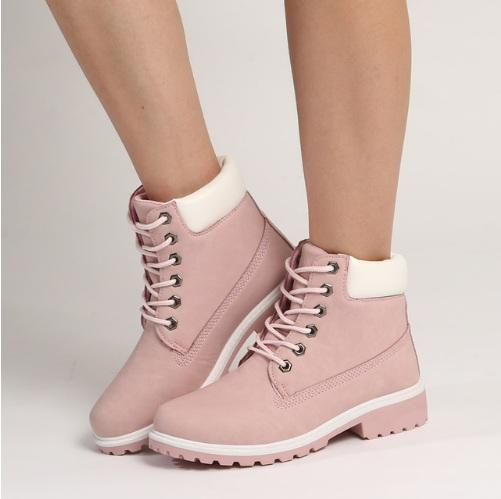 684150a9b549e Pink Lace-up Boots in 2018