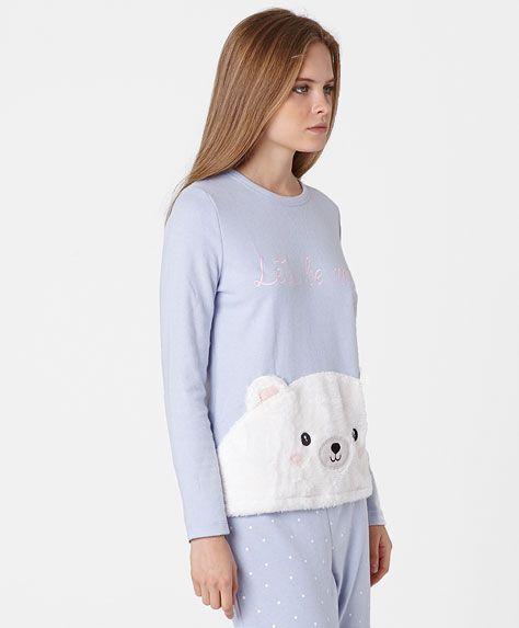 Sudadera celeste oso oysho estilo pinterest pijama ropa y ropa deportiva - Ropa interior tezenis ...