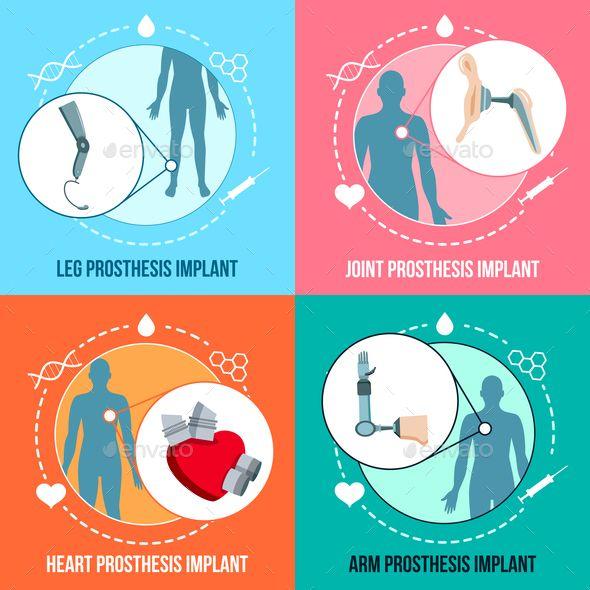 Flat Icon , Implants, Concept