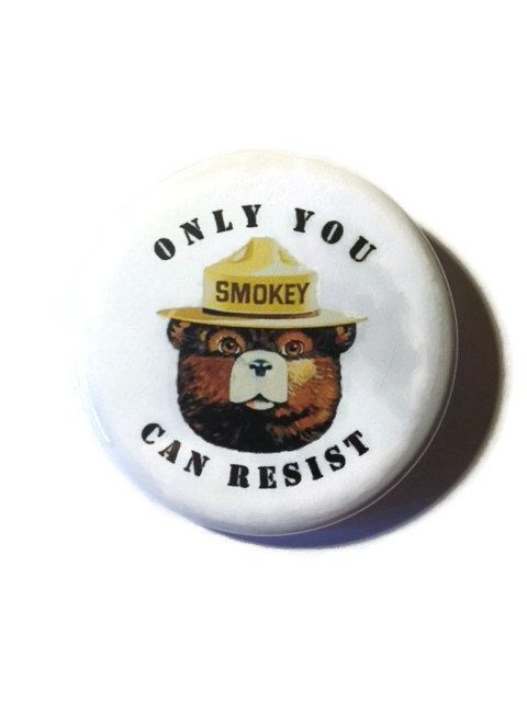 Smokey says RESIST  your choice of pin or magnet by BuenoButtons
