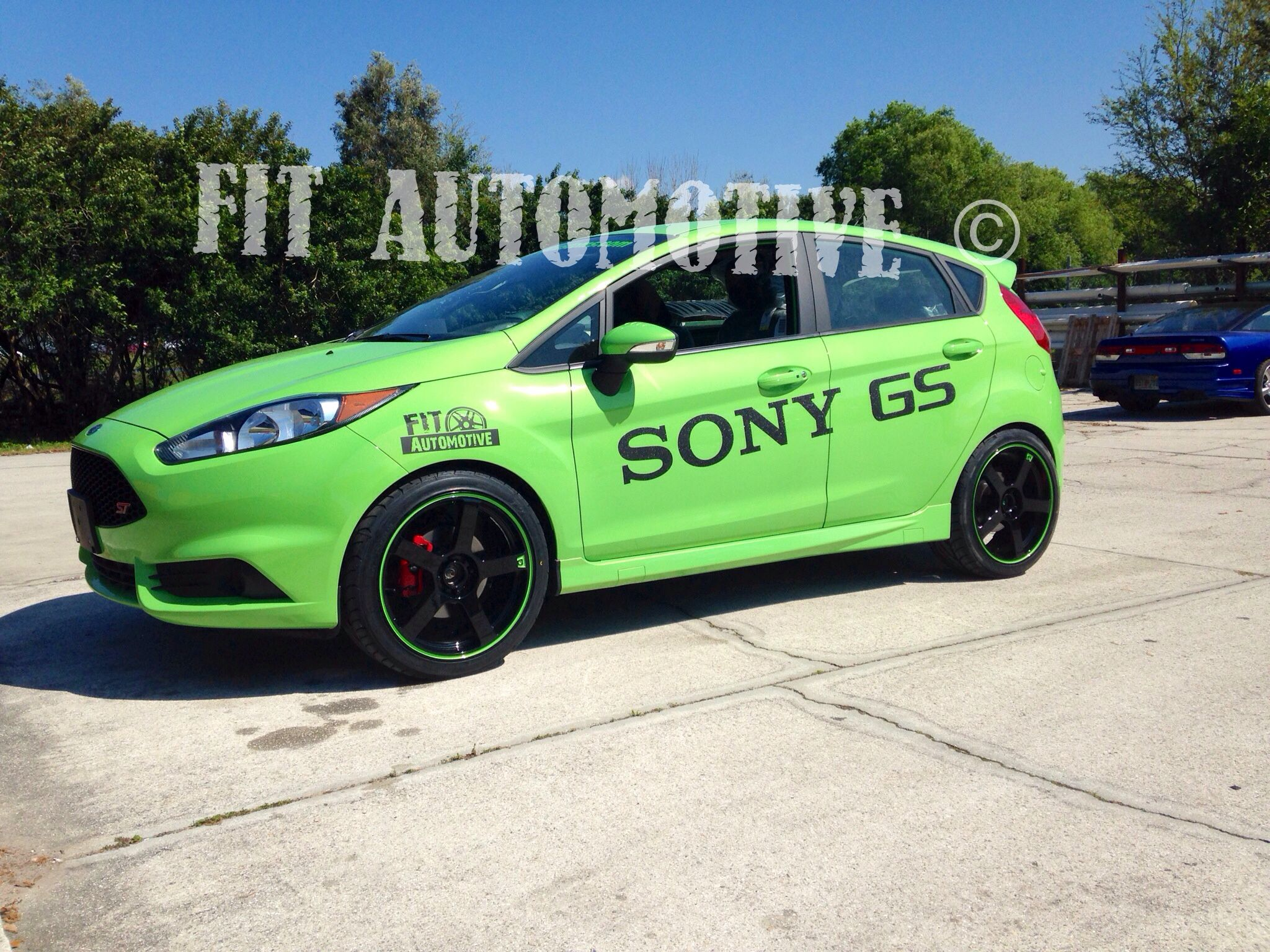Ford Fiesta St We Did That Was In The Sony Booth Custom Painted Motegi Wheels Wheels Ford Green Ford Fiesta St Custom Trucks Ford Fiesta