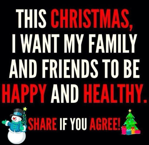 Christmas Wish Love Family Quote Happy Wish Healthy Christmas