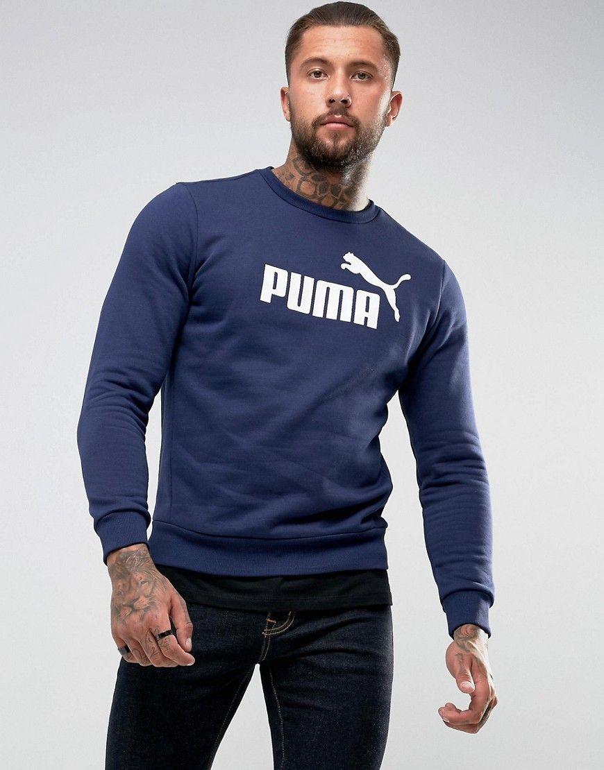 a4dfe1d9f3 Puma ESS No.1 Crewneck Sweatshirt In Navy 83825206   Products ...