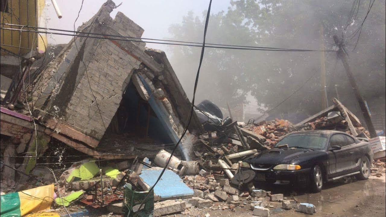 71 mexico earthquake footage damage collapses caught