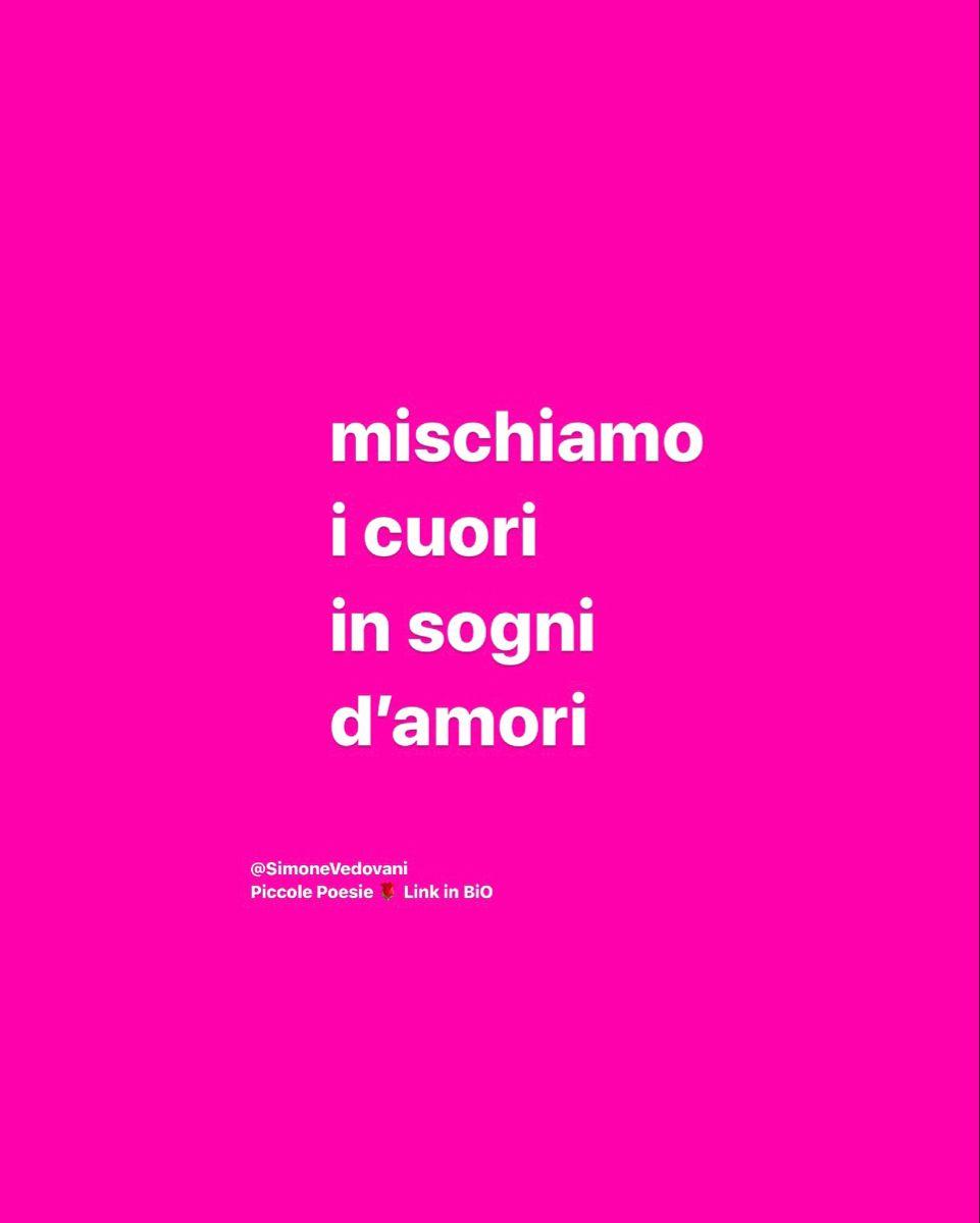 Seguimi su Instagram @SimoneVedovani 🌹 Piccole Poesie 💌 frasi belle, dediche, tumblr, amore, pensieri, citazioni, aforismi, sensuali, motivazione e molto altro... io resto a casa ❤️ #frasibelle #frasiamore #frasi #frasitumblr #frasimotivazionali #amoremio #poesia #poesie #romantico #iorestoacasa  #scrivere #citazioniitaliane #citazioni #aforismi #amore #vita #frasiitaliane #libri #citazione #frasedelgiorno