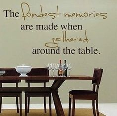 Dining Room Wall Quotes | TrendyWallDesigns.com | Quotes ...